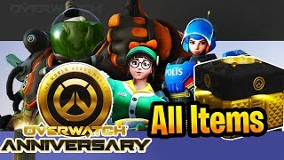 Overwatch 2019 Anniversary Event Every Skin, Emote, Pose, Voice line All New items
