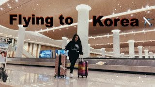 flying to korea 🇰🇷 (a vlog)