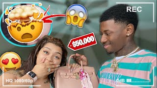 FLIRTING WITH OTHER GIRLS THEN SURPRISING MY GIRLFRIEND WITH A $50,000 BIRKIN BAG **PRANK**