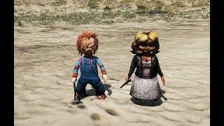 GTA 5 - Búp bê ma Chucky và bạn gái Tiffany | GHTG
