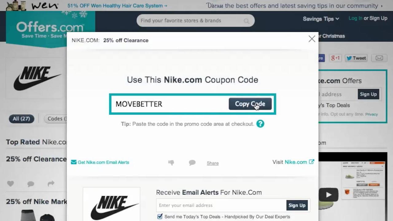 nike store discount coupon codes