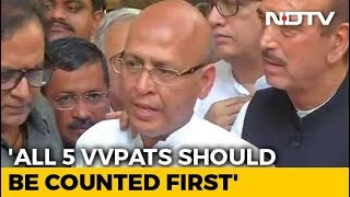 All 5 VVPATs Should Be Counted First: 22 Opposition Partie..