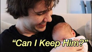 David Dobrik Wanting to Steal Josh Peck's Baby for 1 Min Straight