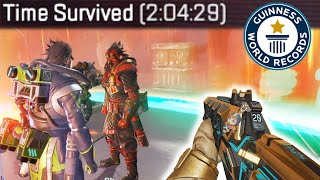 Breaking the WORLD RECORD for the LONGEST MATCH EVER in Apex Legends