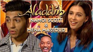 Aladdin's Naomi Scott and Mena Massoud on diversity and making a Guy Ritchie musical