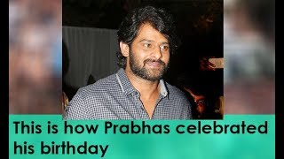 Viral Video of Prabhas celebrates birthday on the sets of ..