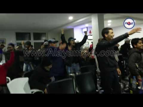 فرحة الجماهير المغربية عقب التأهل التاريخي