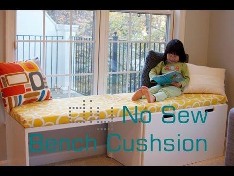 Diy No Sew Bench Cushion Seat Window Seat Cushion Without