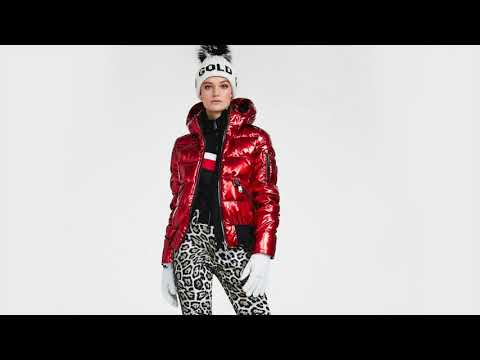 Goldbergh Aura Womens Ski Jacket in Lava - Saga Fur Trim