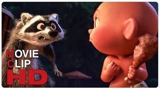 Jack Jack Vs Raccoon - Fight Scene | INCREDIBLES 2 (2018) Movie CLIP HD