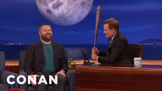 Conan Threatens Robert Kirkman With Negan's Bat  - CONAN on TBS