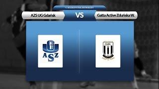 11. kolejka: AZS UG Gdańsk - Gatta Active Zduńska Wola (skrót)