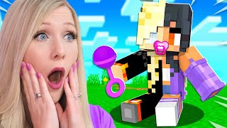 Minecraft But You Shapeshift into Baby YouTubers Every Minute...