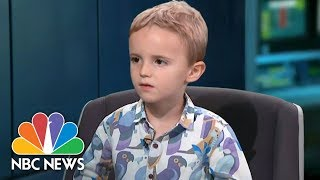 Adorable Toddler Goes Rogue During Live TV News Bulletin   NBC News