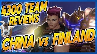 4300 SR Players Analyze Overwatch World Cup! (China vs. Finland)