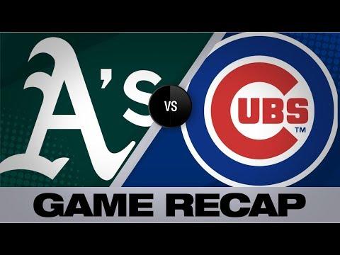 Happ's grand slam, Quintana propel Cubs   Athletics-Cubs Game Highlights 8/7/19