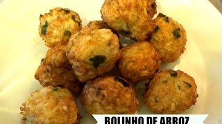 Brazilian Fried Rice Balls - Bolinho de Arroz