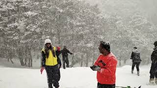 HEAVIEST snowfall of 2019 recorded at AULI, BEST SKI destination in INDIA, Covered in snow..........