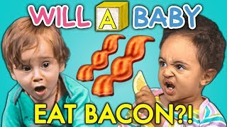 Will A Baby...EAT BACON For The FIRST TIME?
