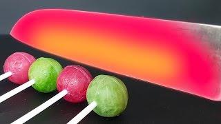 EXPERIMENT Glowing 1000 degree KNIFE Chupa Chups