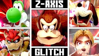 Super Smash Bros. Ultimate - How The Z-AXIS GLITCH Affects Stamina KO Death Animation