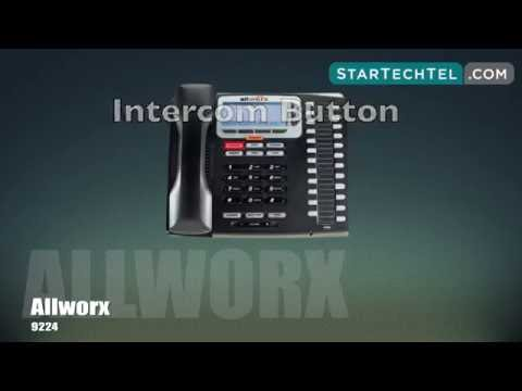 How To Use the Intercom On The Allworx 9224 Phone
