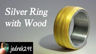 Silver Ring with Wood. Tutorial/Srebrny Pierścionek z Drewnem