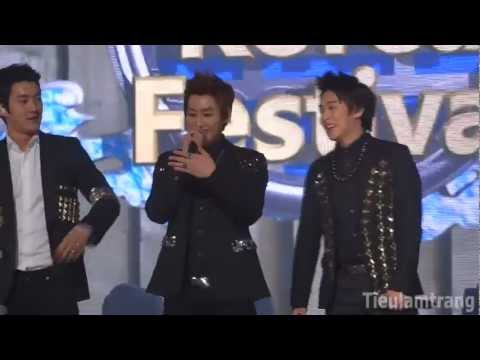 [20120315] [HD Fancam] Super Junior introducing in Vietnamese (Music Bank in Vietnam)