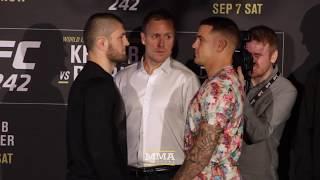 UFC 242: Khabib Nurmagomedov vs. Dustin Poirier Staredown - MMA Fighting