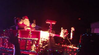 Santa Claus hijacks a ambulance and cop car and steals little kids and get arrested