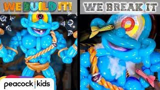 Balloon Cyclops vs. Blow Dart Cannon I WE BUILD IT WE BREAK IT