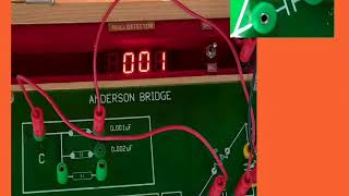 To Determine The Self-inductance of a coil with Anderson's bridge