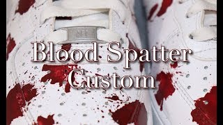 Air Force 1 Custom   Blood Spatter