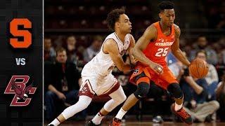 Syracuse vs. Boston College Basketball Highlights (2017-18)