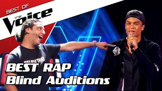 TOP 10 | MIND-BLOWING RAPPERS Blind Auditions in The Voice