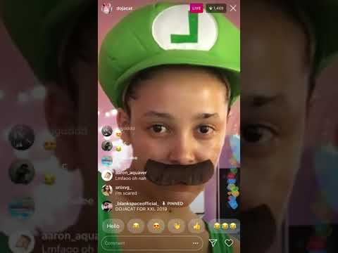 Doja cat is Luigi on Instagram live and tells us who her favorite producer is!!! @dojacat