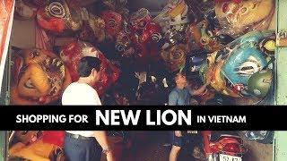SHOPPING LION DANCE COSTUME IN VIETNAM \\ Where they make Lion Dance Equipment & Cost \ VIETNAM VLOG