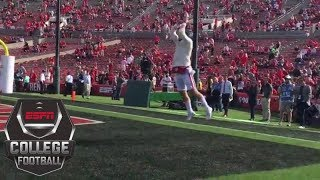Baker Mayfield snags TD pass in same spot he was practicing catching before Rose Bowl | ESPN