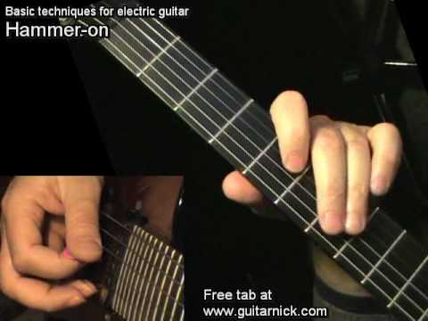 hammer on for beginners electric guitar lesson learn how to play youtube. Black Bedroom Furniture Sets. Home Design Ideas