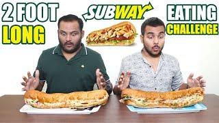 2 FOOTLONG SUBWAY EATING CHALLENGE | SUBWAY SUB EAT OFF | FOOD CHALLENGE