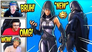 """STREAMERS REACT TO *NEW* """"FATE"""" & """"OMEN"""" SKINS! *LEGENDARY* Fortnite SAVAGE & FUNNY Moments"""