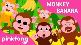 Monkey Banana-Baby Monkey | Animal Songs | PINKFONG Songs for Children