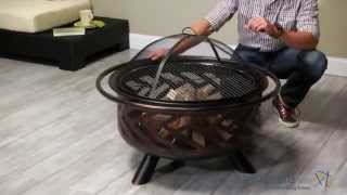 Red Ember Bronze Fishbone Firebowl Fire Pit - Product Review Video