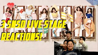 [4LadsReact] Girls' Generation (소녀시대) - Show Girls | Lion Heart | You Think Live stages Reaction