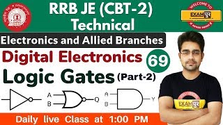 Class 69 ||#RRB JE (CBT -2 )Technical || Electronics Eng. || By Sameer Sir ||  Logic Gates