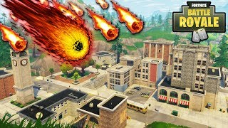 "NEW ""Tilted Towers"" METEOR SHOWER HAS STARTED! TILTED TOWERS DESTROYED DATE CONFIRMED! (Fortnite)"