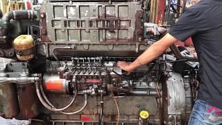 Nhập khẩu mua bán máy tàu thuỷ cũ từ Nhật | Động cơ tàu thuỷ Yanmar 6KH 450hp | Marine Diesel Engine