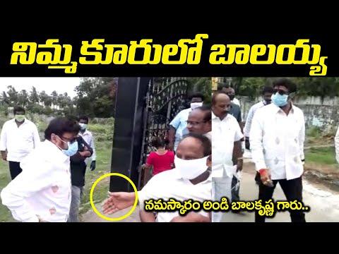 Nandamuri Balakrishna makes surprise visit to Nimmakuru