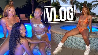 RIDING IN MY NEW GWAGON , MANSION POOL PARTY , LINKING W/ ABBY NICOLE | VLOG