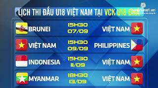 VCK U18 Đông Nam Á 2017: Lịch thi đấu ĐT U18 Việt Nam